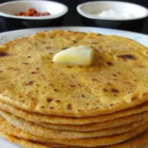 4 Potato Parathas
