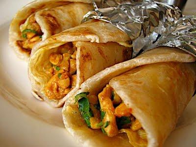 Halal chicken paratha